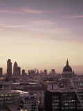 Dusk over London skyline Photographic Print by Simon Mills