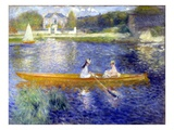 The Skiff (La Yole) Lmina gicle por Pierre-Auguste Renoir
