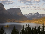Wild Goose Island at sunrise St. Mary Lake, Glacier National Park, Montana. Photographic Print by Roberta Olenick