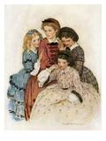 Meg, Jo, Beth and Amy Reproduction procédé giclée par Jessie Willcox-Smith