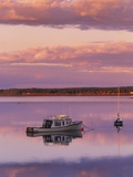 Sunset West River Causeway, West River, Prince Edward Island, Canada Photographic Print by  Barrett & Mackay