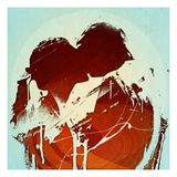 Couple Kissing Giclée-Druck