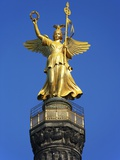 Germany Berlin Tiergarten Angel on Victory Column Photographic Print by Paul Seheult