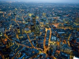 Aerial View of City of London Fotografiskt tryck av Jason Hawkes