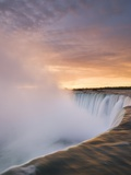 Horseshoe Falls at Sunset from Table Rock Viewpoint, Niagara Falls, Ontario Photographic Print by Darwin Wiggett