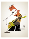 Aggressive rock musician Giclee Print by Harry Briggs