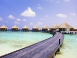 Water bungalows and jetty Photographic Print by Frank Lukasseck