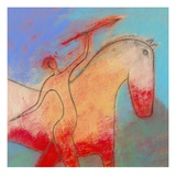 Spear Beside a Horse Giclee Print by Marie Bertrand