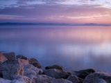 Germany Baden-Wurttemberg Lake Constance afterglow Fotografie-Druck von Silke Magino