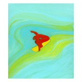 Man surfing Giclee Print by Marie Bertrand