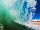 Shorebreak wave Fotografie-Druck von Mark A. Johnson
