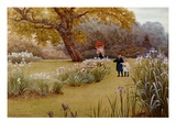 A Walk in the Garden Giclee Print by Frederick Hamilton Jackson