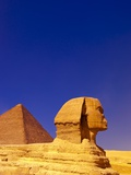 Great Sphinx and Pyramids at Giza Photographic Print by Blaine Harrington