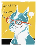 French Bulldog Wearing Eyeglasses Giclee Print