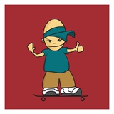 Skateboard Giclee Print by Sabet Brands
