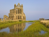 Ruins of Whitby Abbey in North Yorkshire Photographic Print by Paul Thompson