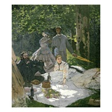 Detail of Dejeuner sur l'Herbe, Chailly Giclee Print by Claude Monet