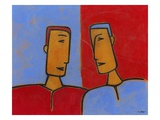 Men Conversing Giclee Print by Marie Bertrand