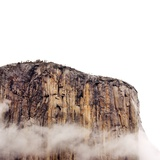 Sheer cliff rising above clouds Photographic Print by JoSon