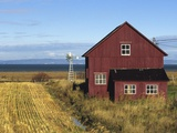 Red Barn, Cacouna, Quebec, Canada Photographic Print by  Barrett & Mackay