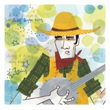 Banjo Player Giclee Print