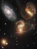 Galaxy group Stephan&#39;s Quintet Photographic Print