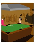 Pool Hall Giclee Print