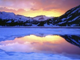 Icy Lake in Mountains Photographic Print by Christopher Talbot Frank