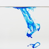 Blue dye floating in water Lmina fotogrfica