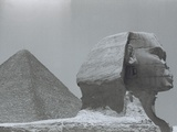 Sphinx And Pyramid/ Cairo/ Giza/Egypt Photographic Print by Frank Andolino