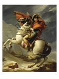 Napoleon Crossing the Alps on 20th May 1800 Gicleetryck av Jacques-Louis David