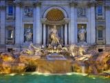 Trevi Fountain Fotografisk tryk af Sylvain Sonnet