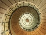 Spiral Staircase at Eckmuhl Lighthouse in Brittany Fotografie-Druck von Owen Franken