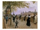 On the Banks of the River Seine Giclée-Druck von Jean Béraud