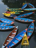 Canoes floating on water Photographic Print by Sung-Il Kim