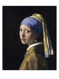 Girl With A Pearl Earring Gicle-tryk af Jan Vermeer