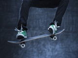Male Skateboarding Photographic Print by Mike Kemp