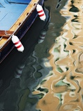 Sunlight and Boat Reflected in Canal Photographic Print by Jeremy Woodhouse