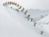 Snowboarder Photographic Print by Franz Faltermaier