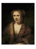 Portrait of Hendrikje Stoffels Giclee Print by  Rembrandt van Rijn