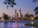 Swan River and James Mitchell Park at dusk Photographic Print by Jonathan Hicks