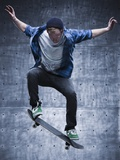 Male Skateboarding Photographie par Mike Kemp