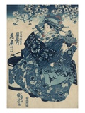 The Courtesan Hanao of Ogi-ya Giclee Print by Utagawa Kuniyoshi