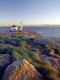 Trial Island Lighthouse with the Strait of Juan De Fuca in Background, Victoria, British Columbia,  Photographic Print by Chris Jaksa