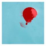 Red hot air balloon Giclee Print
