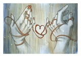 Hands Tied with String Giclee Print