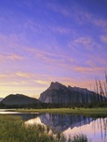 Tunnel Mountain and Mount Rundle from First Vermilion Lake, Banff National Park, Alberta, Canada Photographic Print by John E Marriott