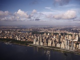 Western view of New York City and Hudson River in late afternoon Lmina fotogrfica por Cameron Davidson