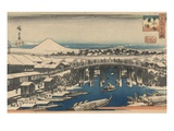 Nihonbashi, Clearing after Snow Giclee Print by Ando Hiroshige