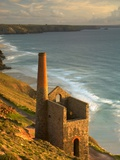 Smokestack in St. Agnes Photographic Print by Lee Pengelly
